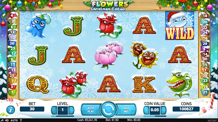 Flowers Christmas Edition Slot - Prova Gratis Online